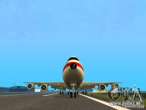 Boeing 747-100 für GTA San Andreas Rückansicht