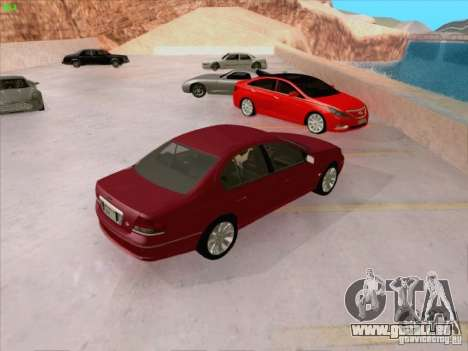 Ford Falcon Fairmont Ghia pour GTA San Andreas vue de dessus