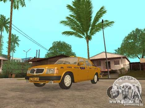 GAZ 3110 Wolga taxi für GTA San Andreas linke Ansicht