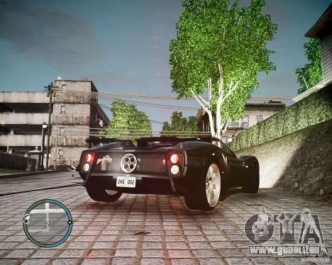 Pagani Zonda C12S Roadster pour GTA 4 est une gauche