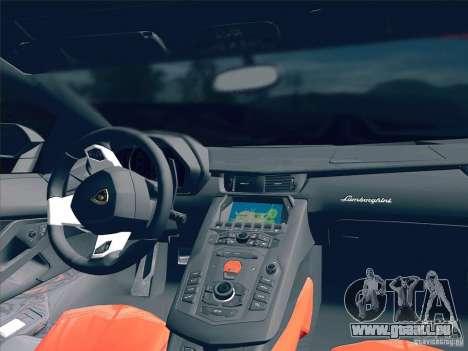 Lamborghini Aventador LP700-4 2011 V1.0 für GTA San Andreas Unteransicht