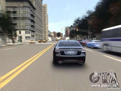 Pontiac G8 GXP pour GTA 4 est une vue de l'intérieur