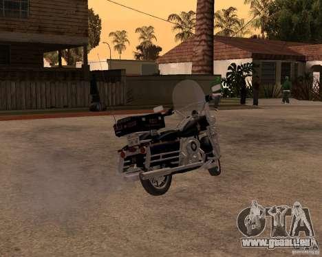 Harley Davidson Police 1997 für GTA San Andreas zurück linke Ansicht
