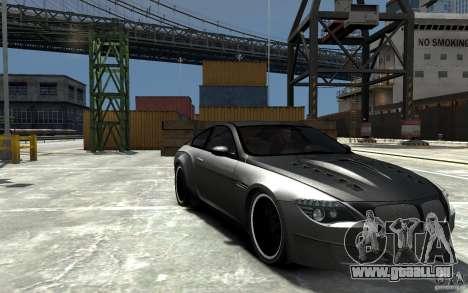 BMW M6 Tuning pour GTA 4 Vue arrière