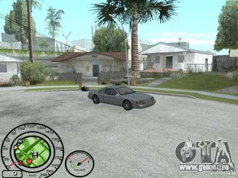 Compteur de vitesse avec jauge à essence pour GTA San Andreas