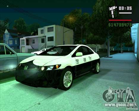 Honda Civic 2006 Coupe 1.1 pour GTA San Andreas