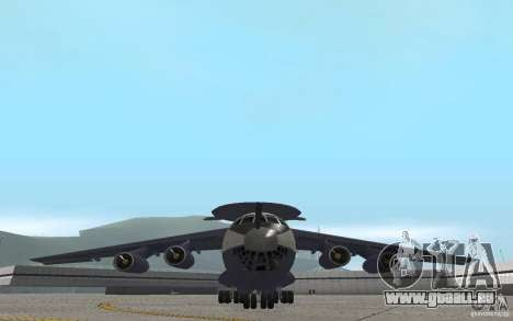 Berijew A-50 Mainstay pour GTA San Andreas vue intérieure