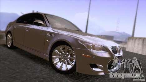 BMW M5 2009 pour GTA San Andreas vue intérieure