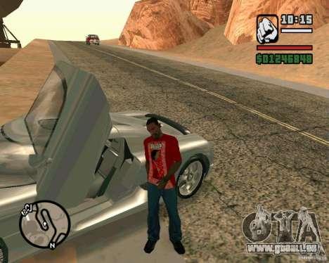 Koenigsegg CC8S pour GTA San Andreas laissé vue