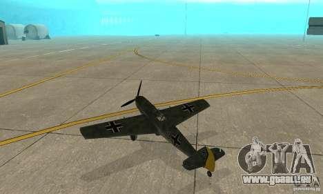 Bf-109 pour GTA San Andreas vue de droite