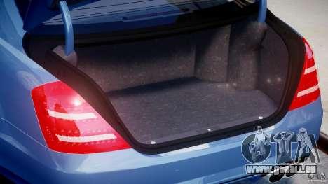 Mercedes-Benz S63 AMG [Final] pour GTA 4 est une vue de dessous
