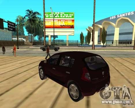 Dacia Sandero 1.6 MPI für GTA San Andreas linke Ansicht