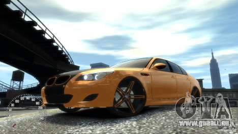 BMW M5 E60 pour GTA 4 est une gauche