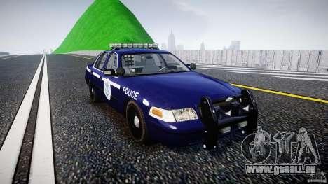 Ford Crown Victoria Homeland Security [ELS] pour GTA 4 Vue arrière