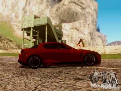 Mazda RX8 Reventon für GTA San Andreas Innenansicht