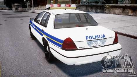 Ford Crown Victoria Croatian Police Unit für GTA 4 rechte Ansicht