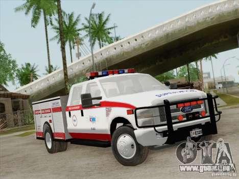 Ford F-350 AMR Supervisor pour GTA San Andreas laissé vue