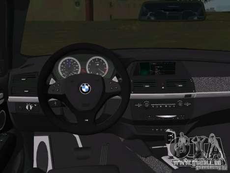 BMW X6M pour une vue GTA Vice City d'en haut
