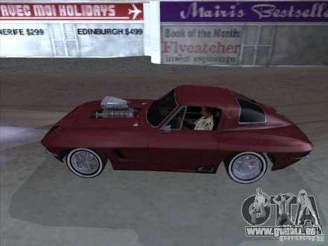 Chevrolet Corvette Big Muscle pour GTA San Andreas laissé vue