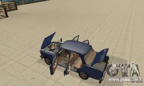 Moskvitch 412 avec tuning pour GTA San Andreas vue arrière