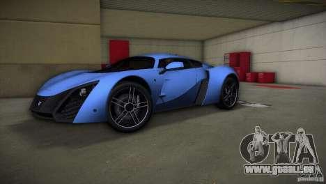 Marussia B2 2010 für GTA Vice City Rückansicht