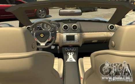 Ferrari California pour GTA 4 vue de dessus