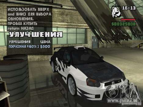 Subaru Impreza Wrx Sti 2002 pour GTA San Andreas sur la vue arrière gauche