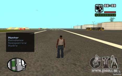 Luftunterstützung, wenn Sie angreift. für GTA San Andreas