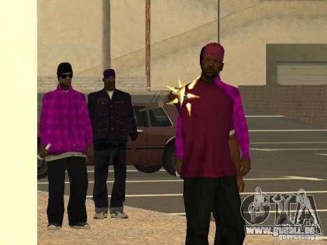 Nouveaux skins Ballas pour GTA San Andreas troisième écran