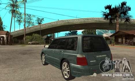 Subaru Forester pour GTA San Andreas sur la vue arrière gauche