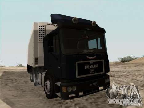MAN F2000 6x4 pour GTA San Andreas laissé vue