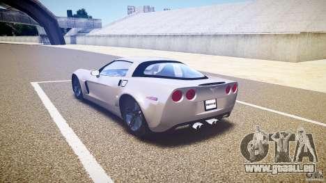 Chevrolet Corvette Z06 1.1 pour GTA 4 Vue arrière de la gauche