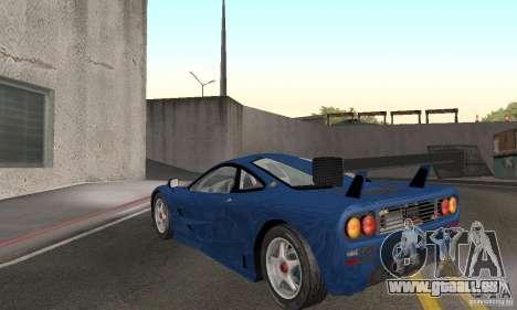 Mclaren F1 GTR (v1.0.0) für GTA San Andreas zurück linke Ansicht