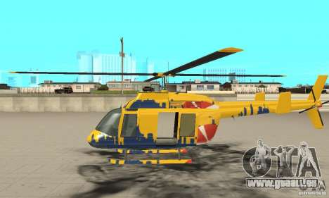 Der Sightseeing-Hubschrauber von Gta 4 für GTA San Andreas linke Ansicht