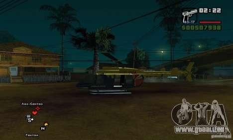 Helitours Maverick von GTA 4 für GTA San Andreas zurück linke Ansicht