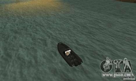 GTAIV Dinghy pour GTA San Andreas sur la vue arrière gauche