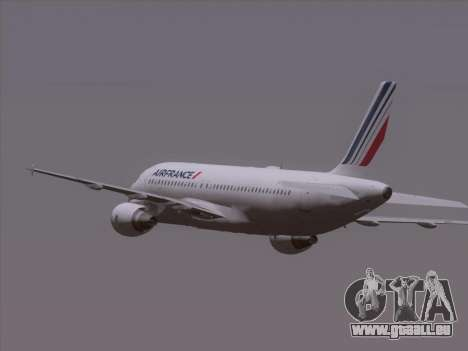 Airbus A320-211 Air France für GTA San Andreas obere Ansicht