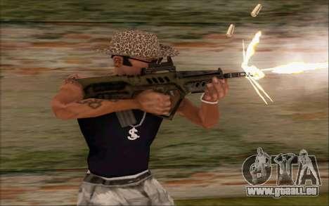 Tavor ctar-21 de WarFace v2 pour GTA San Andreas deuxième écran