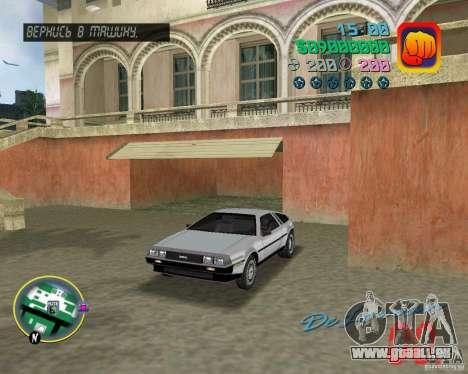 DeLorean DMC 12 pour une vue GTA Vice City de la gauche