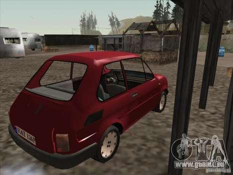 Fiat 126p Elegant für GTA San Andreas rechten Ansicht