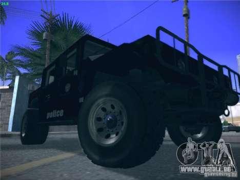 Hummer H1 1986 Police für GTA San Andreas Seitenansicht