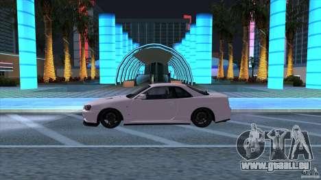 Nissan Skyline GTR-34 M-spec Nur für GTA San Andreas linke Ansicht