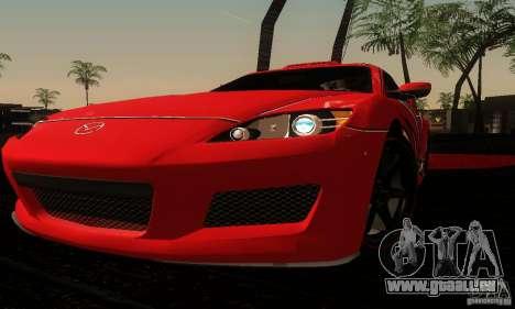 Mazda RX-8 Tuneable pour GTA San Andreas vue de côté