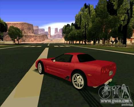 Chevrolet Corvette C5 z06 für GTA San Andreas zurück linke Ansicht