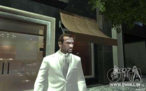 Grand costume gris-blanc pour GTA 4 troisième écran