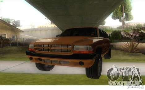 Dodge Durango 1998 pour GTA San Andreas sur la vue arrière gauche