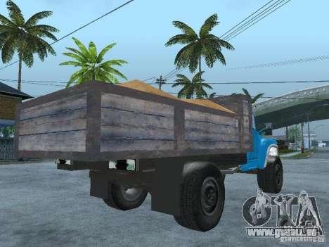 Camion à ordures ZIL 130 pour GTA San Andreas sur la vue arrière gauche