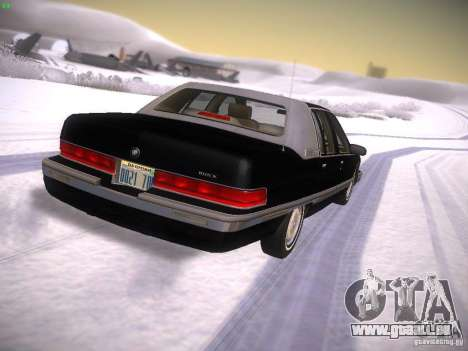 Buick Roadmaster 1996 pour GTA San Andreas sur la vue arrière gauche