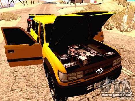 Toyota Land Cruiser 80 Off Road Rims pour GTA San Andreas vue arrière