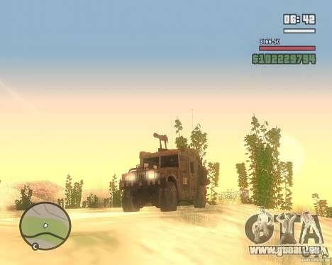 Hummer H1 de COD MW 2 pour GTA San Andreas vue arrière